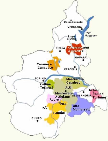 La Cartina Del Piemonte.Piemonte Enologia Italiana