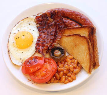 English breakfast, la main course