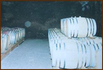 barrique di cognac nello chais