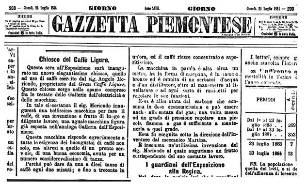 gazzetta piemontese 24 luglio 1884