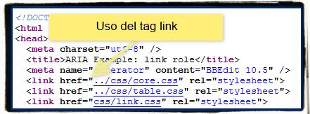 il tag link in una pagina html