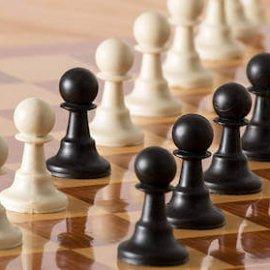 pedoni degli scacchi allineati