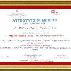 attestato premio AICA